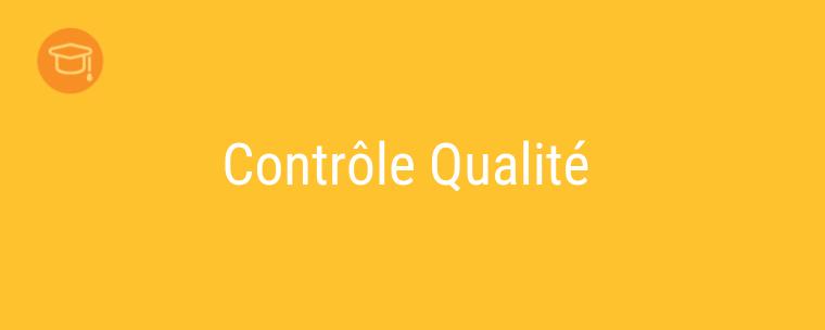 Les différents types de contrôle qualité en formation