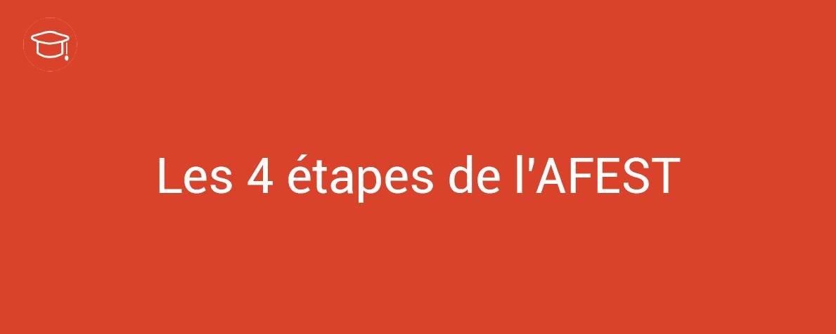 Les 4 étapes de l'AFEST